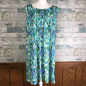 Ronni Nicole tank ikat dress #500